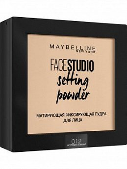 MAYBELLINE FACE STUDIO Пудра для лица 012 натурально-бежевый, 9 г