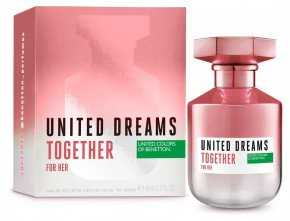 Туалетная вода United Colors of Benetton United Dreams Together for HER для женщин 80 мл